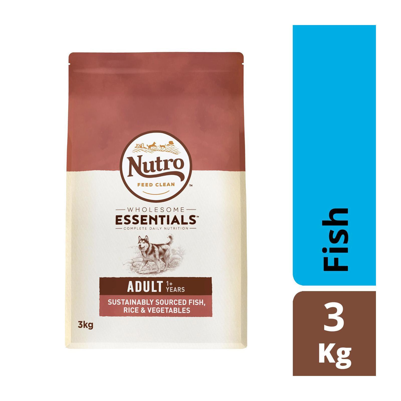 Nutro Wholesome Essential Dog Fish Rice And Vegetable Dry Dog Food
