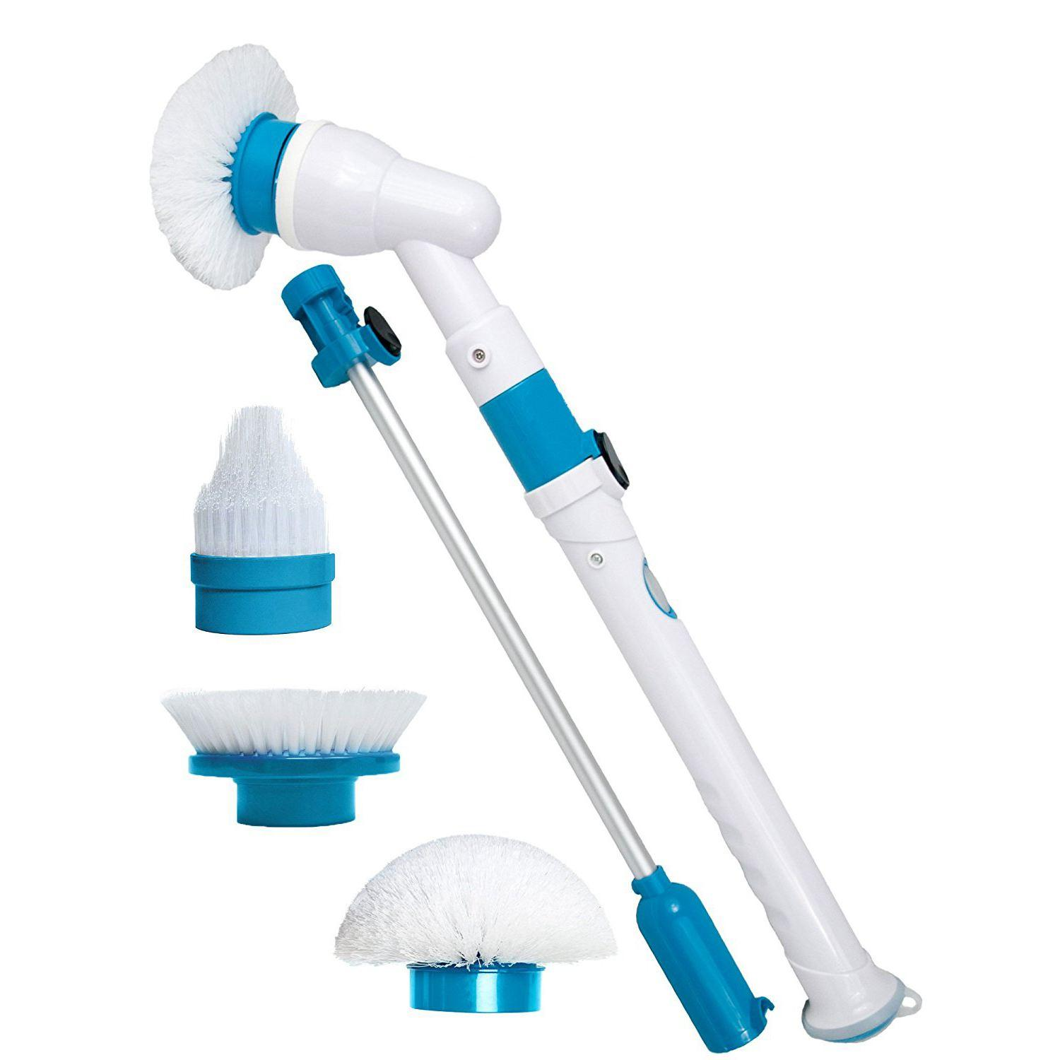 Spin Scrubber Electric Powerful Cleaning Brush with Extension Handle Tub and Tile Scrubber for Bathroom Floor