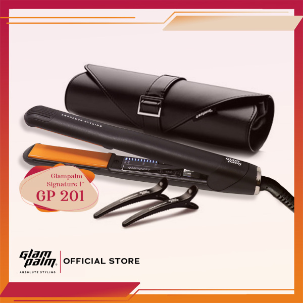 Buy Glampalm Signature 1 GP201 Hair Straightener Set | Glam Palm Hair Iron + Luxury Pouch Singapore