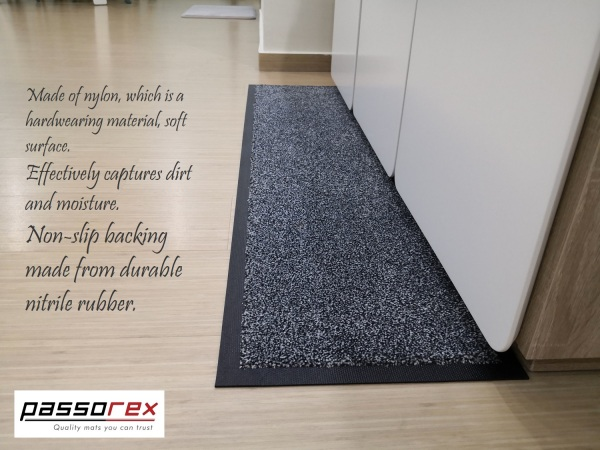 Passorex Comfort Nylon Nonslip Backing Floor Mat 125cm X 30cm