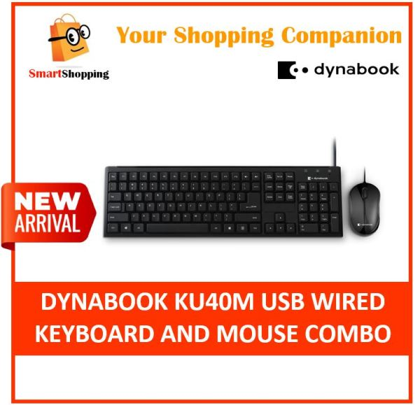 Dynabook (Formerly Known As Toshiba) KU40M USB Wired Keyboard and Mouse Combo 1 year SG warranty