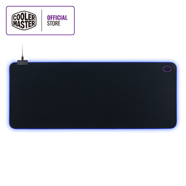 Cooler Master MP750 Gaming Mousepad, Soft Fabric Surface, Splash-proof, Anti-fray Stitching, Non-Slip Rubberized Base, Thick RGB Borders, Software Customization