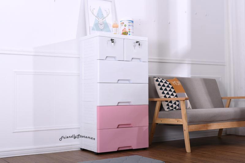 Large 5-Tier Drawer Cabinet Dresser Chest Storage Home Organisation Living Furniture