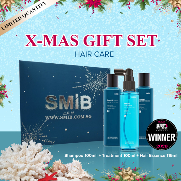 Buy [SMIB] XMAS Gift box Set Edition - Anti Hair Loss Shampoo + Treatment + Essence - Made in Korea Singapore
