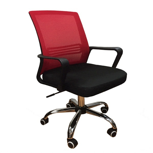 QUARTZ II Low Back Office Chair  Mesh Chair (Red Mesh) Office Chair | Student Mesh Chair | Home Computer Chair Singapore