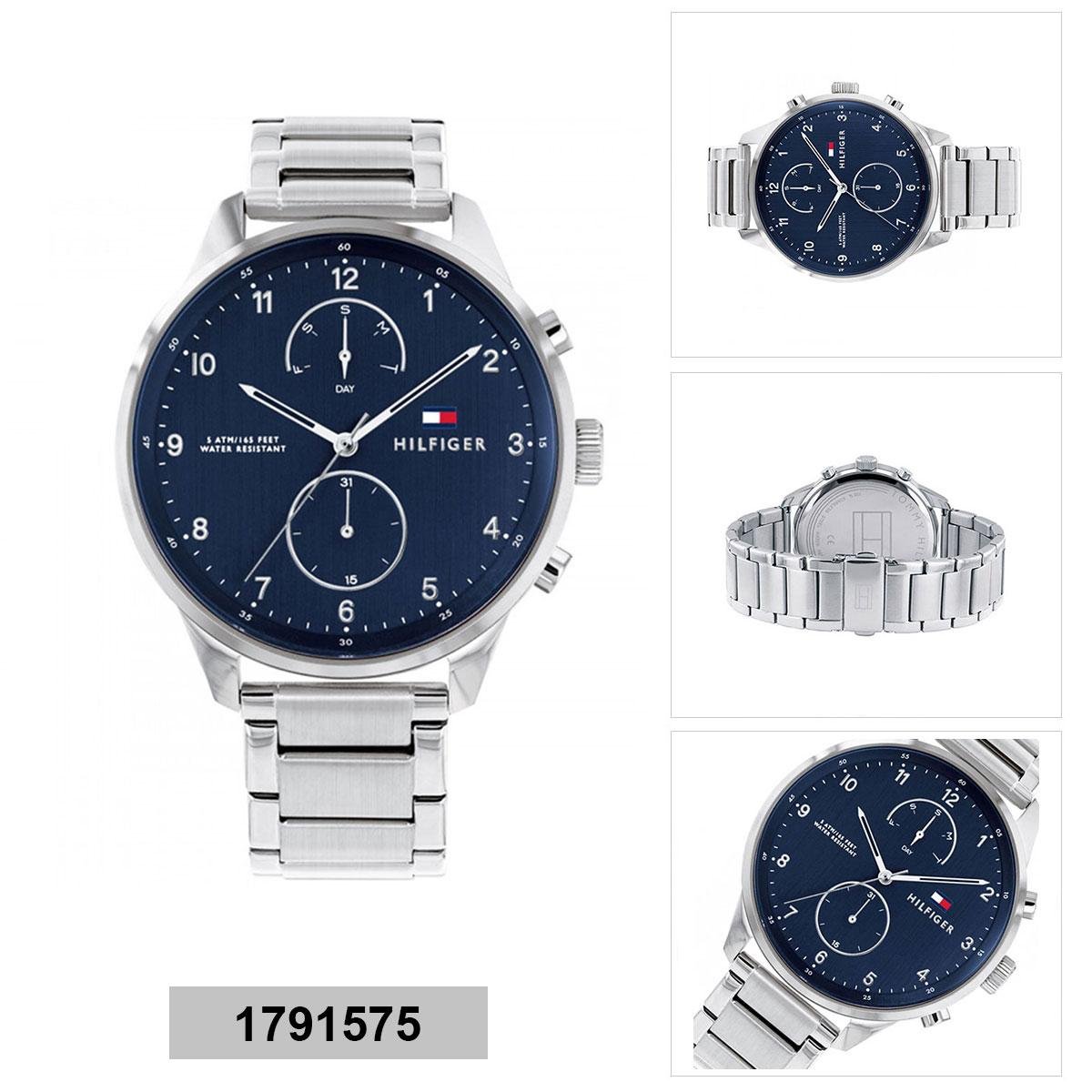 a0532c36 Tommy Hilfiger Multi-function Silver Stainless-Steel Case Stainless-Steel  Bracelet Mens 1791575