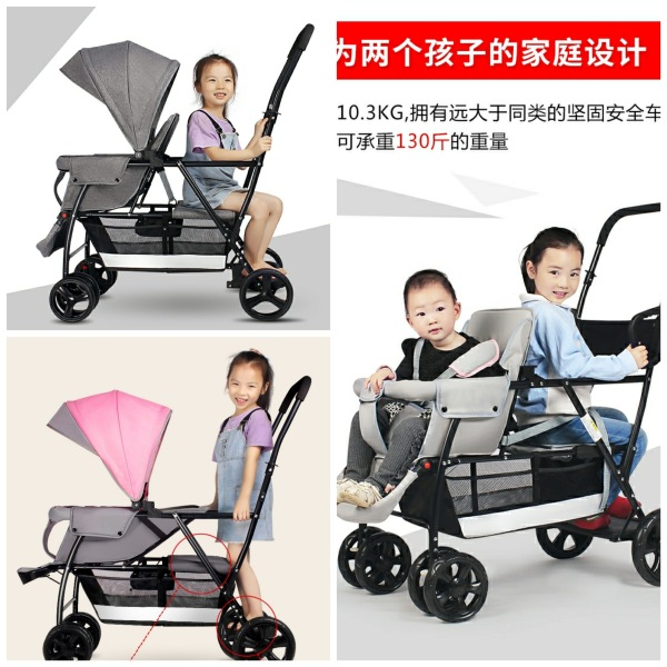 ready stock/baby double stroller/twin pram/newborn to 7 years old Singapore