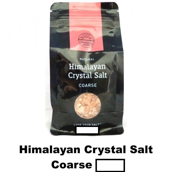 Himalayan Crystal Salt -Coarse 2 X 500g (1kg) By Kr Store.