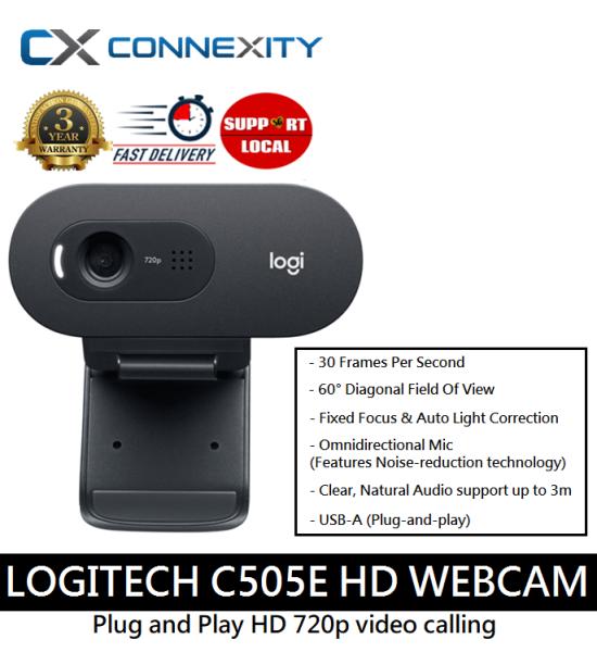 [LOCAL WARRANTY] Logitech C505e HD Webcam l Logitech Webcam l Logitech Webcam HD l HD Webcam with Mic l Webcam with Mic l Webcam Logitech l Webcam For Deskstop l Business Webcam Logitech l Logitech Webcam With Mic l Logitech C505 l Logitech Webcam C505