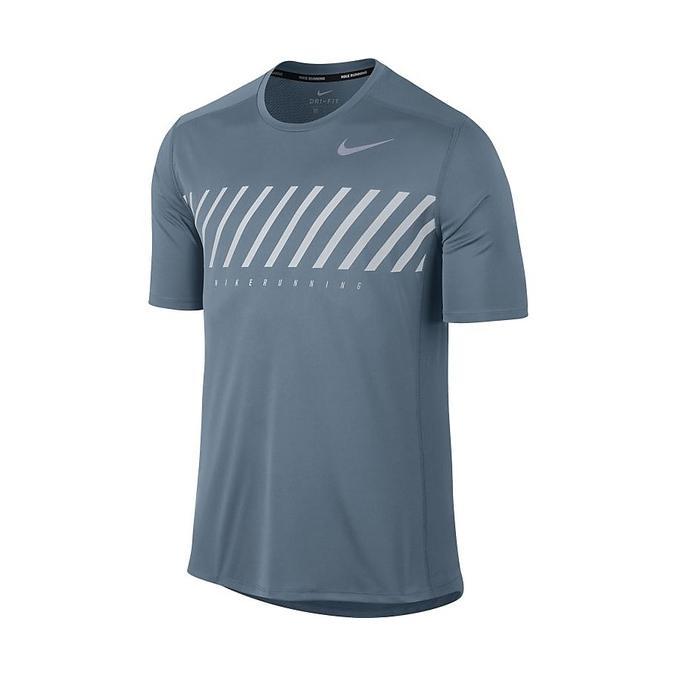 5687a73d175fb4 Singapore. Nike AS Dry Miler Shortsleeve - Men Top (Grey) 856881-497