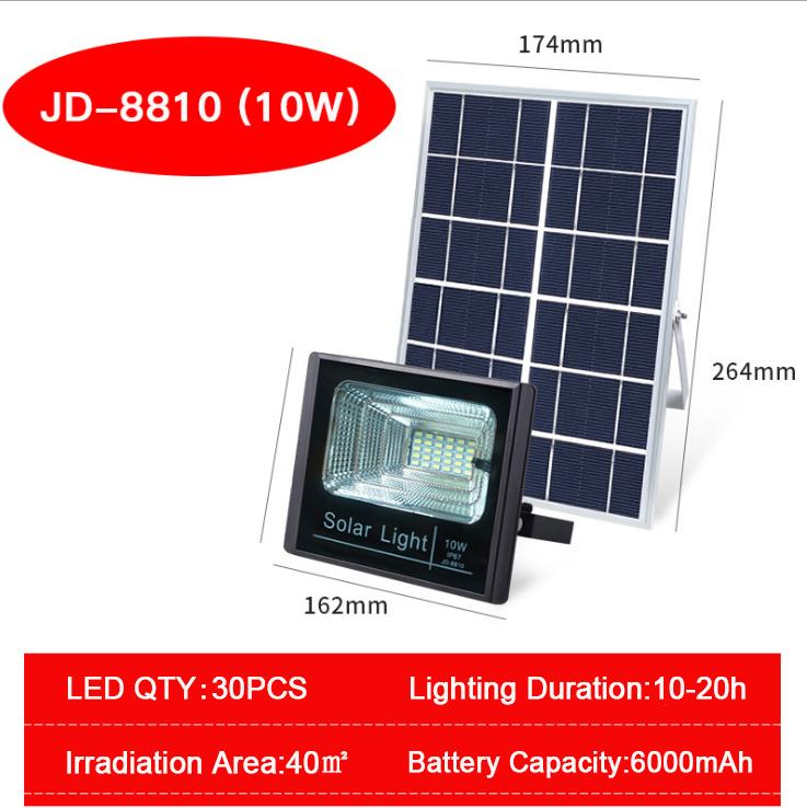 Solar Power LED Flood Lights Remote Control Courtyard Streets Outdoor Smart Lighting Lamp - intl
