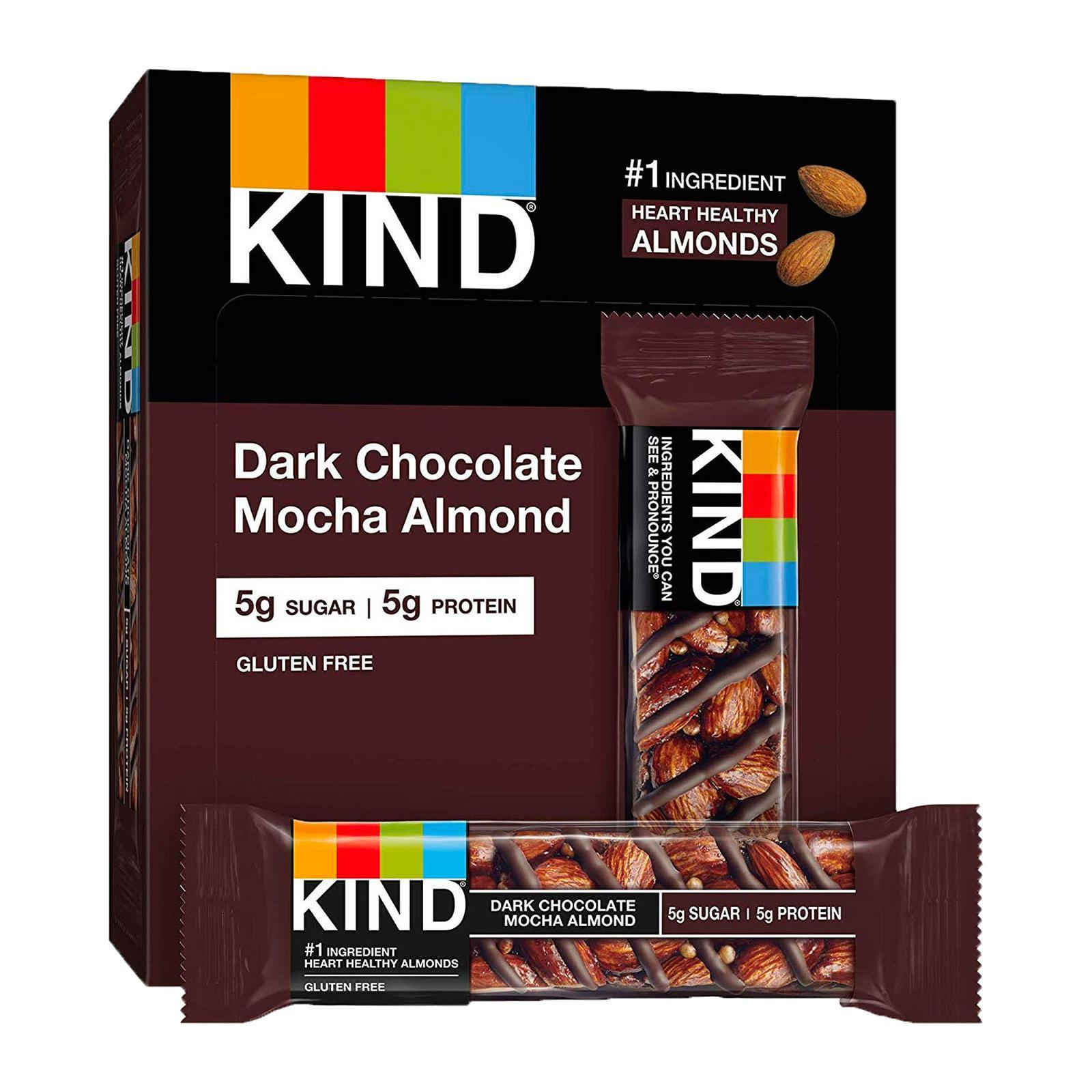 KIND Fruit And Nut Dark Chocolate Mocha Almond Bar - By Wholesome Harvest