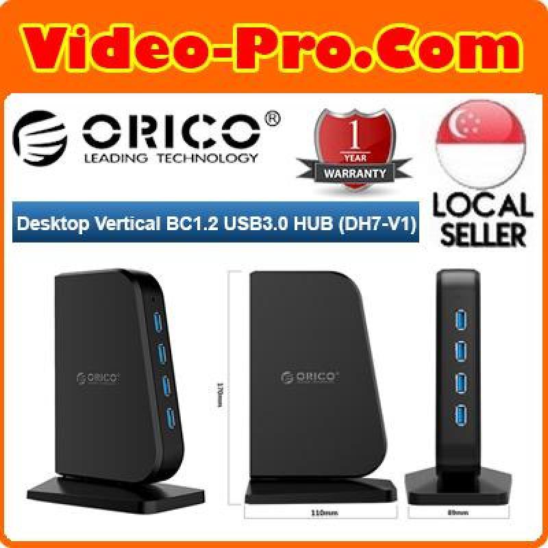 Orico  DH7-V1 7 Port USB 3.0 HUB Desktop Vertical BC1.2 Quick Charge HUB For Windows/Linux/Mac