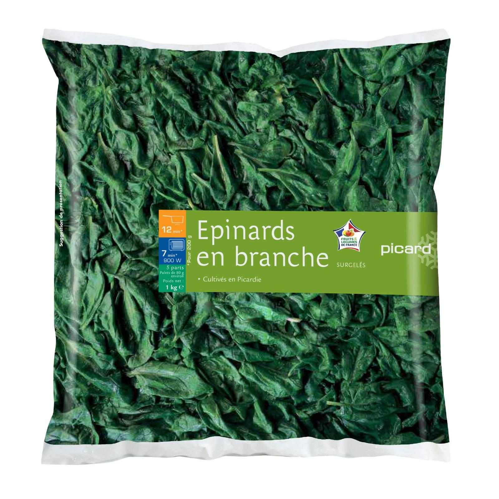 Picard Whole Spinach - Frozen