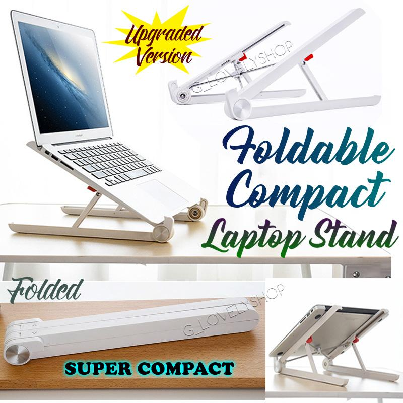 Foldable Compact Laptop/ Tablet Stand. Portable Mobile Convenient