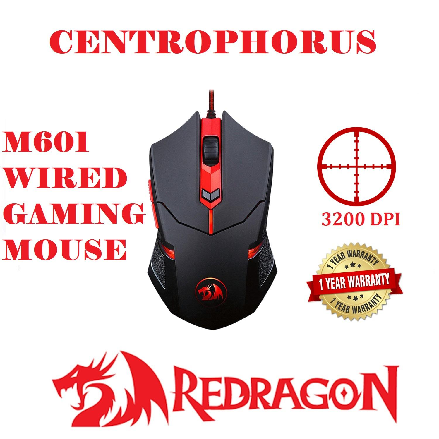 Redragon Centrophorus M601-3 3200 DPI Wired Gaming Mouse