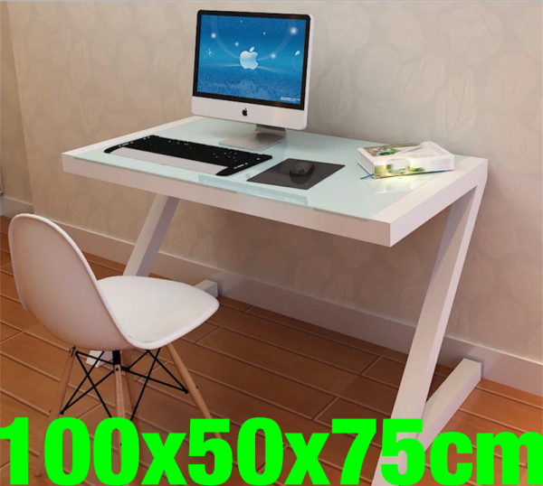 UMD Tempered Glass table study stable study desk computer desk (Free Installation)