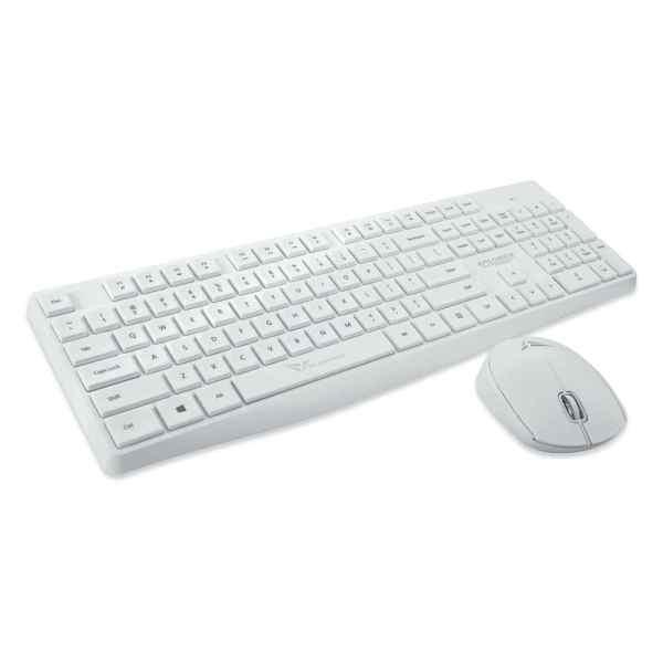 Xplorer Air 6600 2.4G Wireless Keyboard & Mouse Combo [Black/ White]