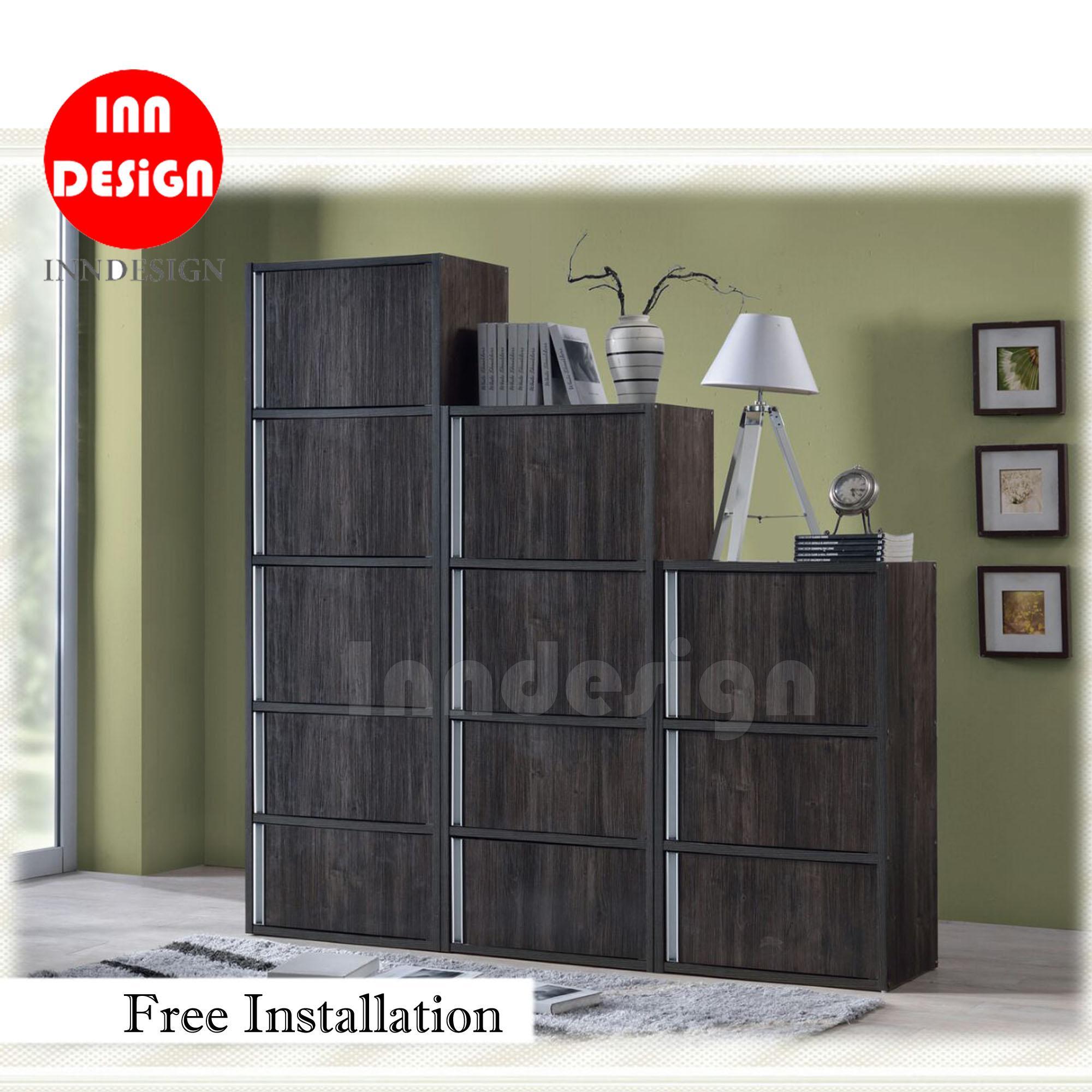 Chirtena Cabinet / Utility Cabinet / Bookshelf / Bookcase (Dark Oak) - Free Installation