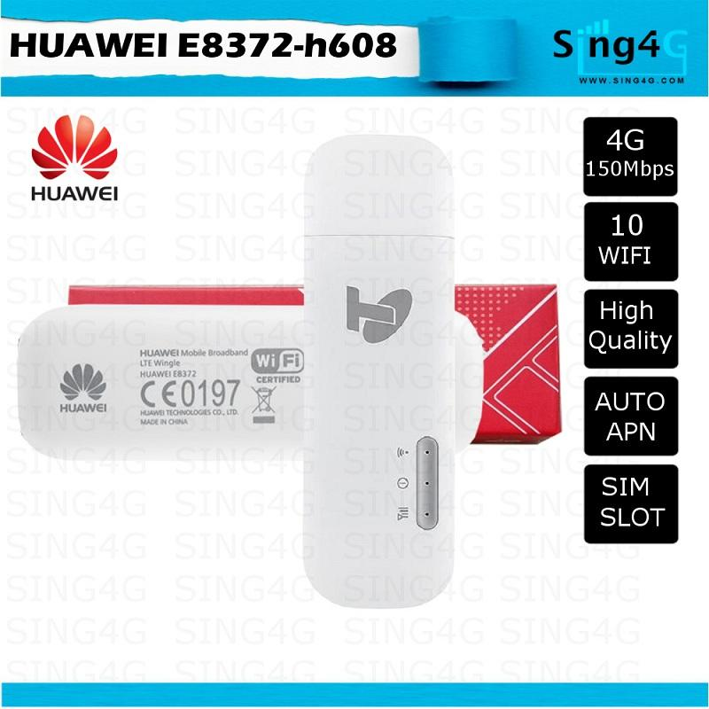 Huawei E8372 4g Wingle Usb Modem With Wifi Hotspot By Sing4g.