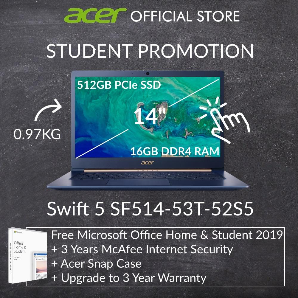 [Student Promotion] Acer Swift 5 SF514-53T-52S5 14-inch Intel i5 Thin and Light Laptop (Blue)