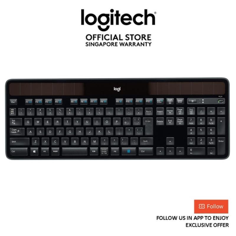 Logitech K750R Solar Wireless Keyboard with Power Monitor App & Unifying - EBL (logitech keyboard) Singapore
