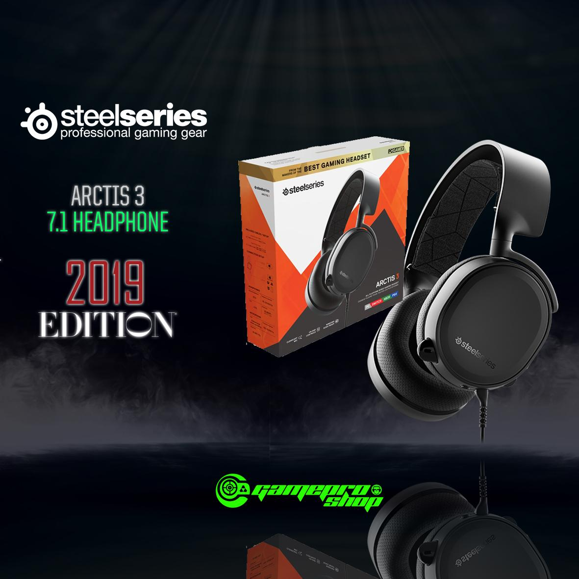 STEELSERIES ARCTIS 3 BLACK 7.1 HEADPHONE - 2019 EDITION *CNY PROMO*