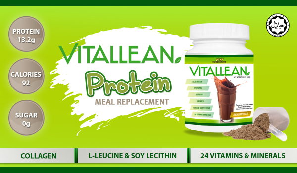 Buy Vital Lean  VitalLean (Slimming / Meal Replacement Shake / Keto Diet), 1kg Halal 13g Protein, 92 Calories, 0g Sugar, 33 Servings with L-Leucine, Soy Lecithin, 24 Vitamins & Minerals (Chocolate) vs Amway Nutrilite Bodykey Singapore