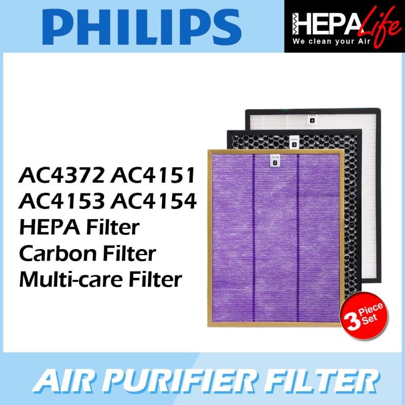 PHILIPS AC4372 AC4151 AC4153 AC4154 Compatible Hepa Carbon Multicare filter - Hepalife Singapore