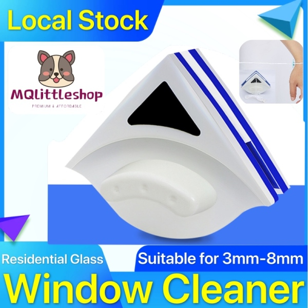 ★ Local Stock ★ Windows Glass Cleaner Double Side Cleaning Window Magnetic Glass Wiper Brush Triangle Shape Double-Side Magnetic Window Cleaner Glass Wiper Cleaning Brush