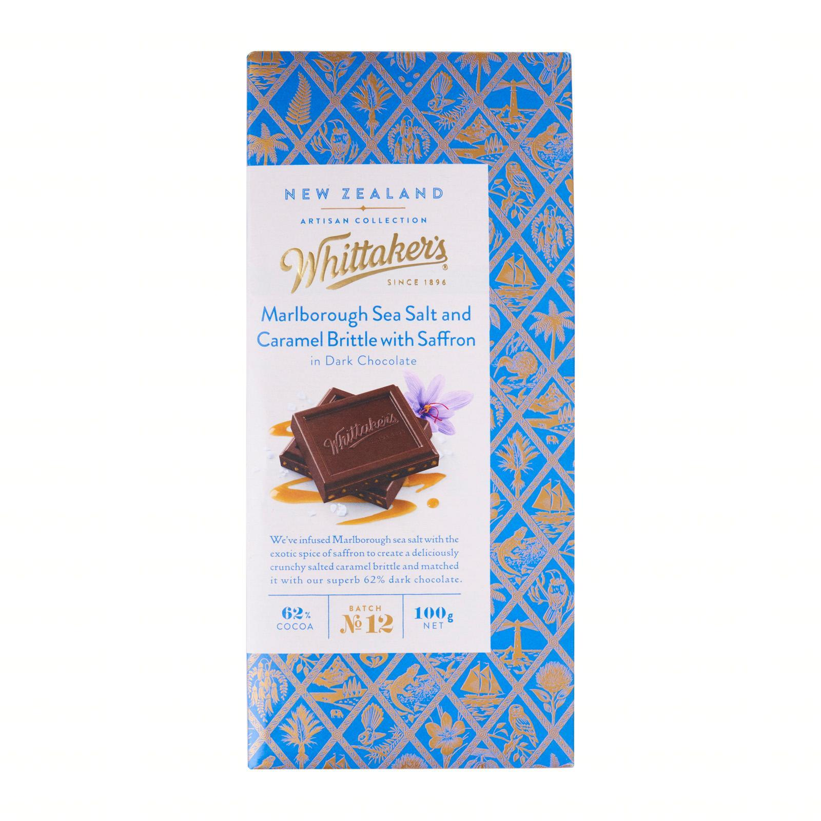 Whittaker's Marlborough Salt And Caramel Brittle Chocolate Artisan Collection