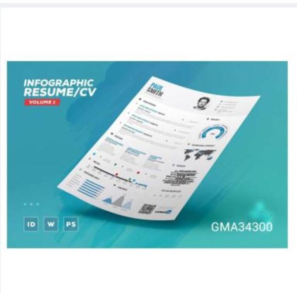 [Promo] Infographic CV Resume Cover Letter Volume 1 Template Word