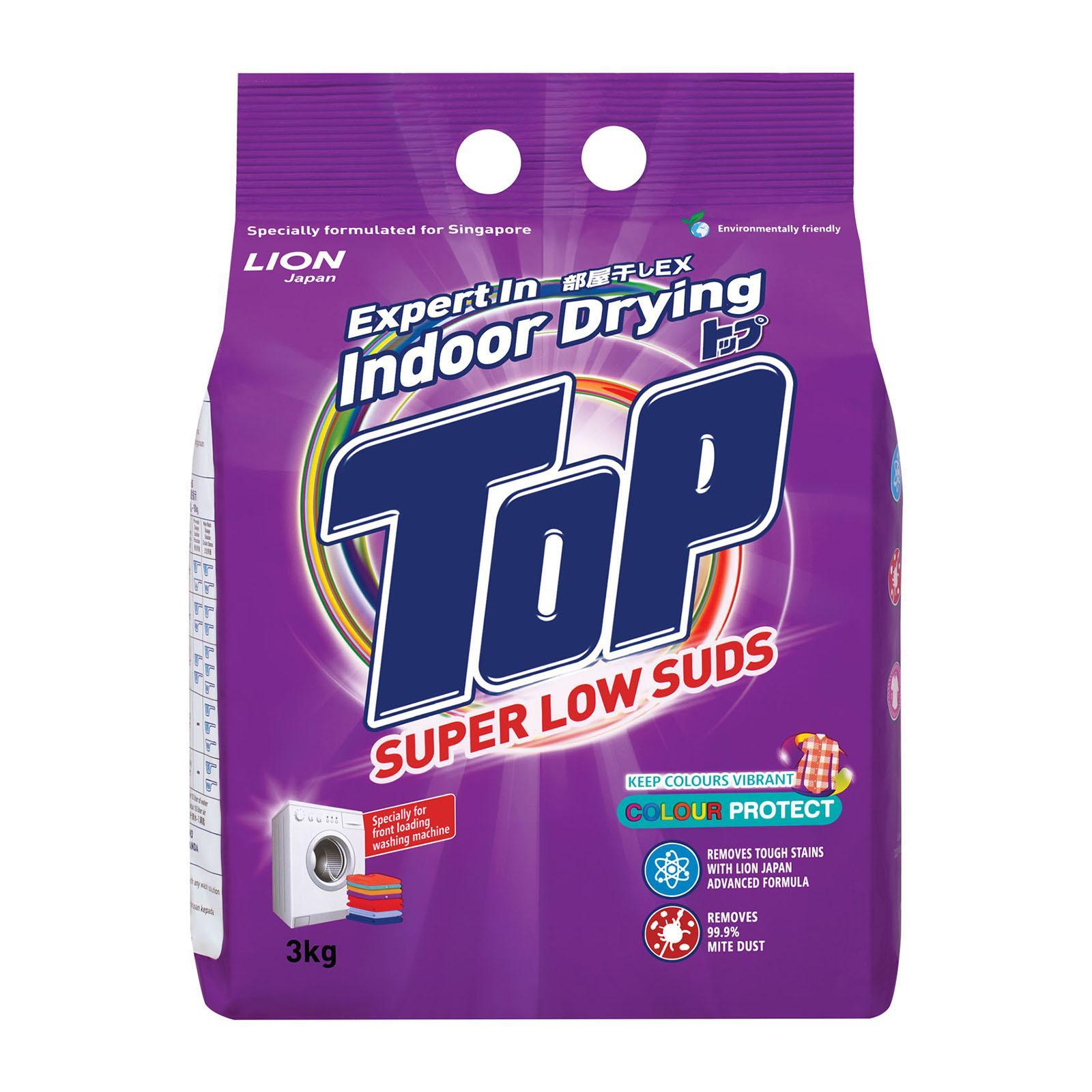 TOP Super Low Suds Powder Detergent - Colour Protect 3kg