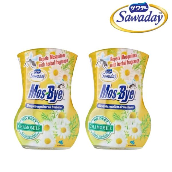 Buy [Bundle of 2] Sawaday Mos-Bye Chamomile Mosquito Repellent 275ml [Aurigamart Authorized Distributor] Singapore