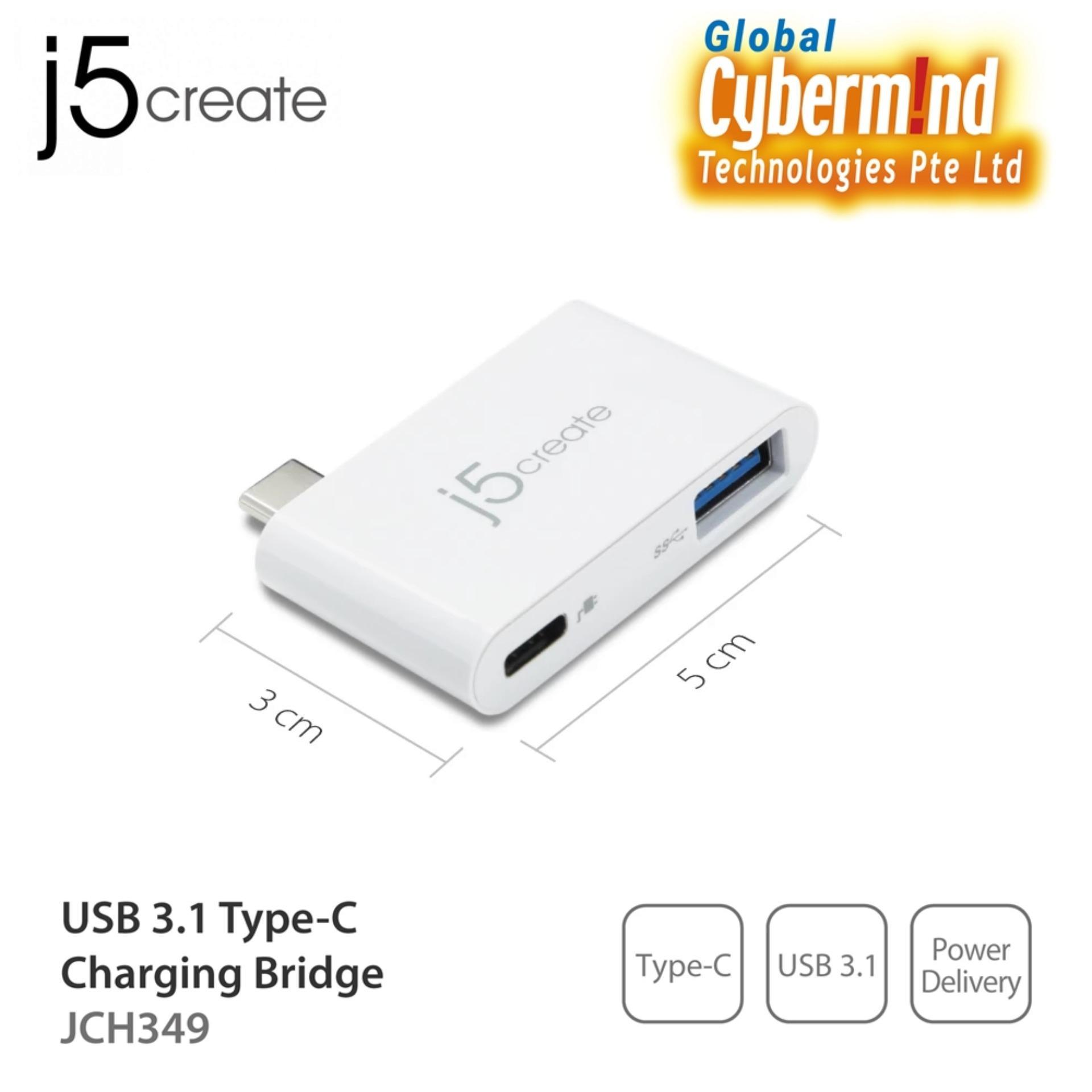 J5Create JCH349 USB 3 1 TYPE-C CHARGING BRIDGE (Local Distributor Stocks)