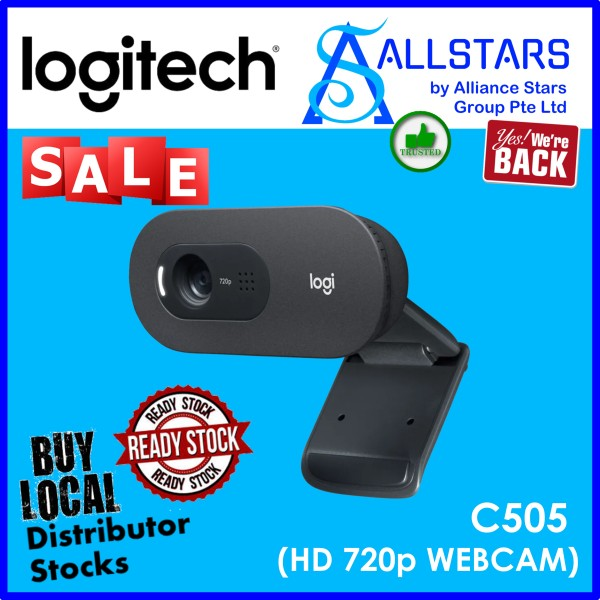 (ALLSTARS : We are Back PROMO) Logitech C505 HD Webcam HD Video Calls with Long Range MIC (960-001370) (Warranty 1year with BanLeong)