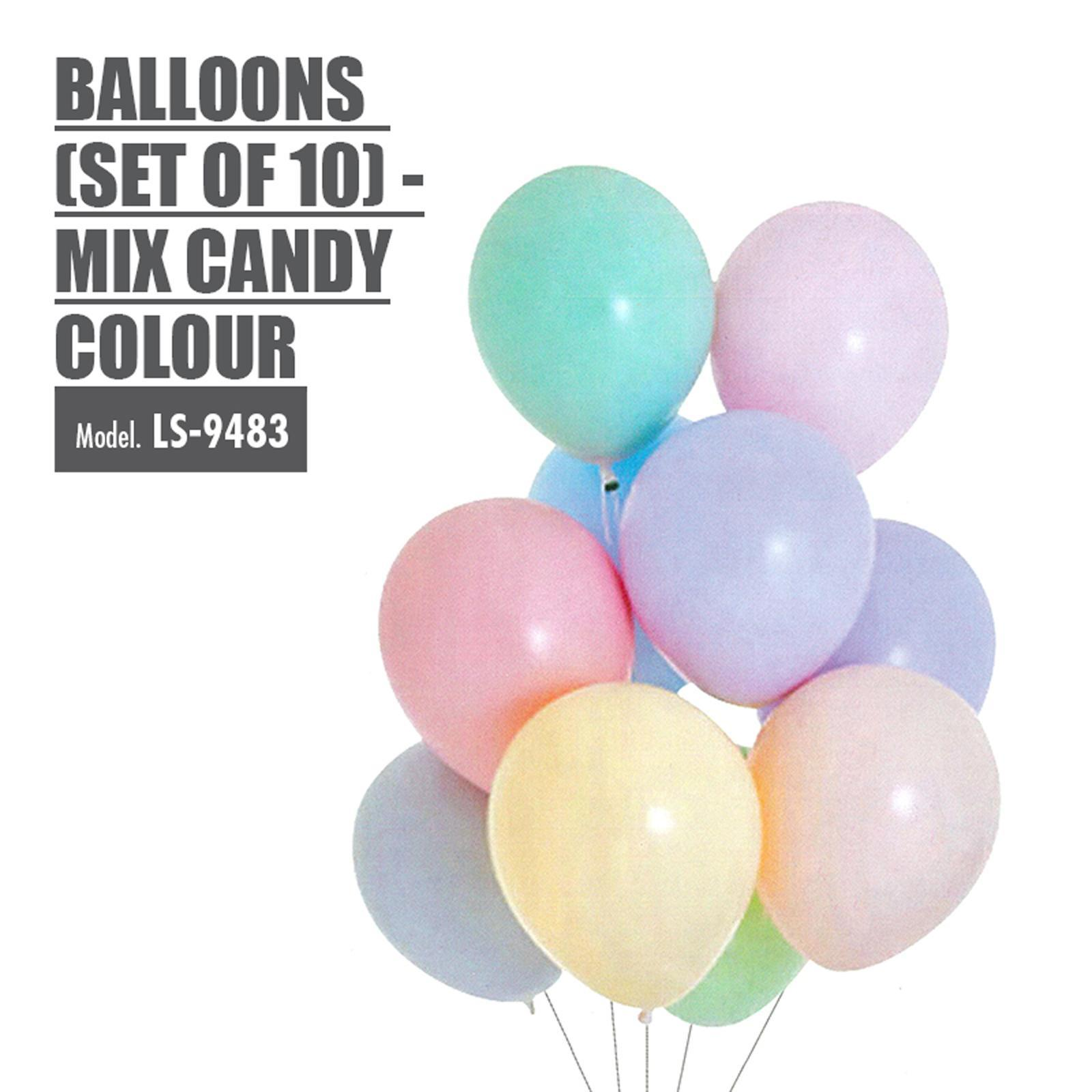 HOUZE Balloons (Set Of 10) - Mix Candy Color
