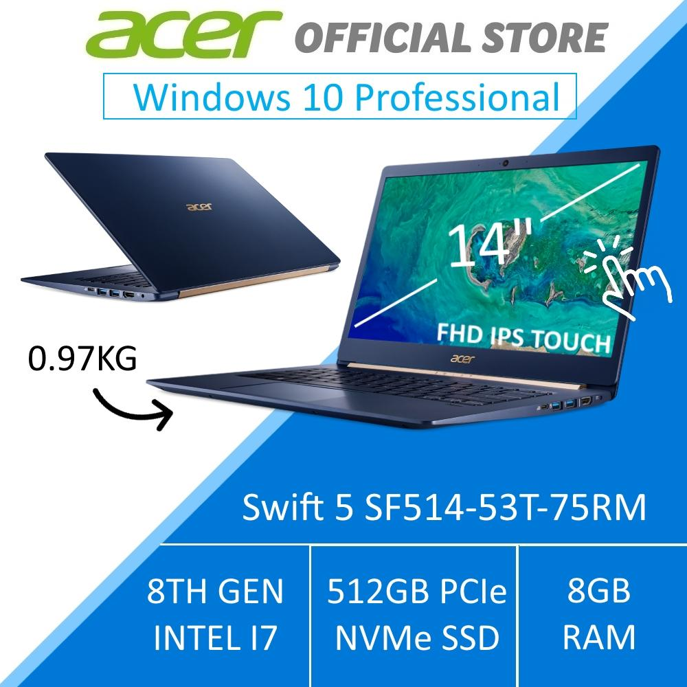 Acer Swift 5 SF514-53T-75RM 14-Inch Intel i7 Lightweight Laptop (BLUE)  - Windows 10 Pro