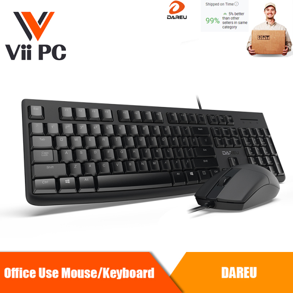 DAREU LM103 +LK185 USB Keyboard and Mouse Combo{ LK185USB Wired Optical Notebook,Laptop,Desktop Mouse For Home Office Use mouse +DAREU LK185 104-Key Wire Office Keyboard}