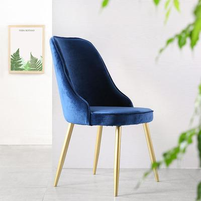 Nordic Minimalist Home Fleece Pink Dining Chair Hotel Reception Negotiate Backrest Chair Cafe Fashion Leisure Chair