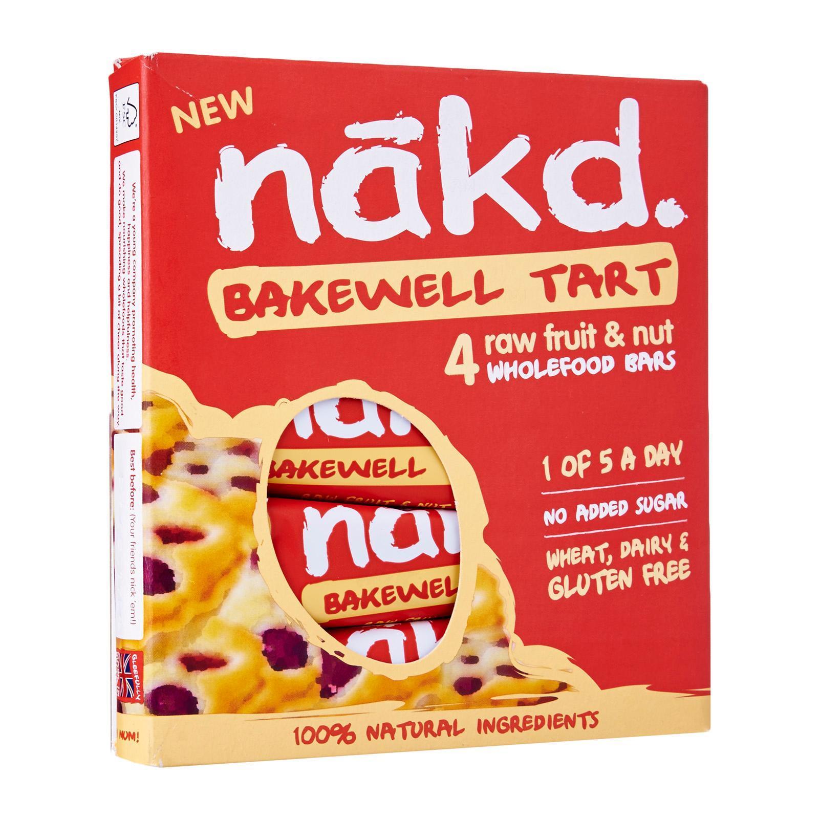 Nakd Gluten Free Bakewell Tart Raw Fruit And Nut Wholefood Bars