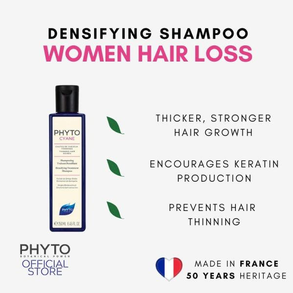 Buy Phytocyane Densifying treatment Shampoo 250ml for Women with Hair Loss & Thinning Singapore