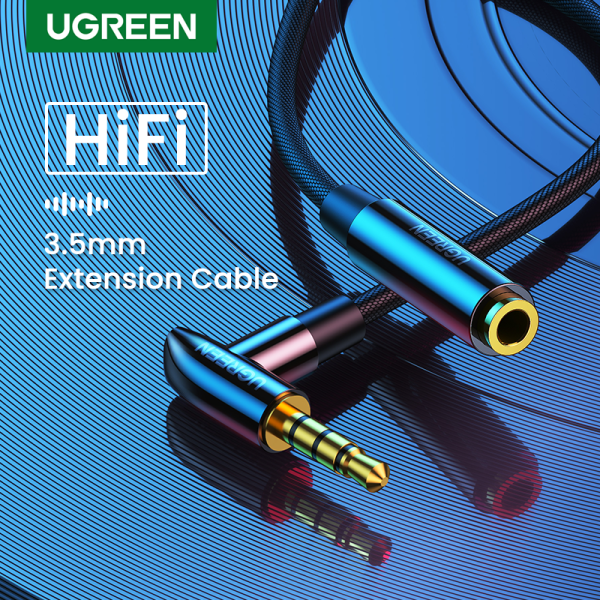UGREEN 3.5mm Aux Extention Cable 4 Pole TRRS 4-Conductor Auxiliary Male to  Female Stereo Jack HiFi Support Microphone Function Audio Cable Singapore