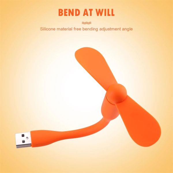 SOME11 Computer For Power Bank Laptop Bendable Charger Portable USB Fan Mini Flexible Hand Fan