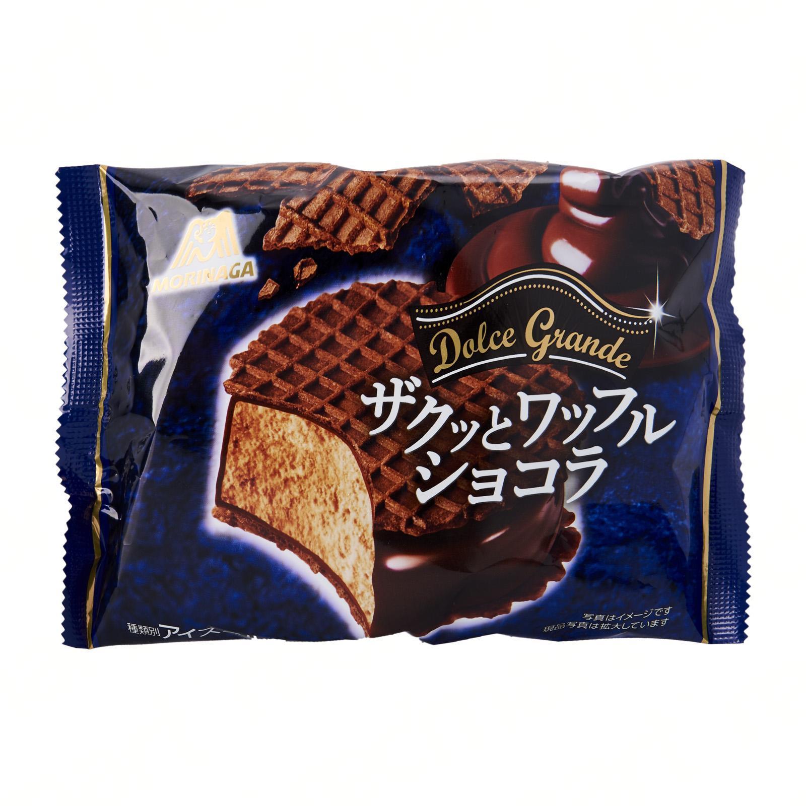 Morinaga Chocolate Waffle Ice Cream Sandwich - Frozen - Jetro Special
