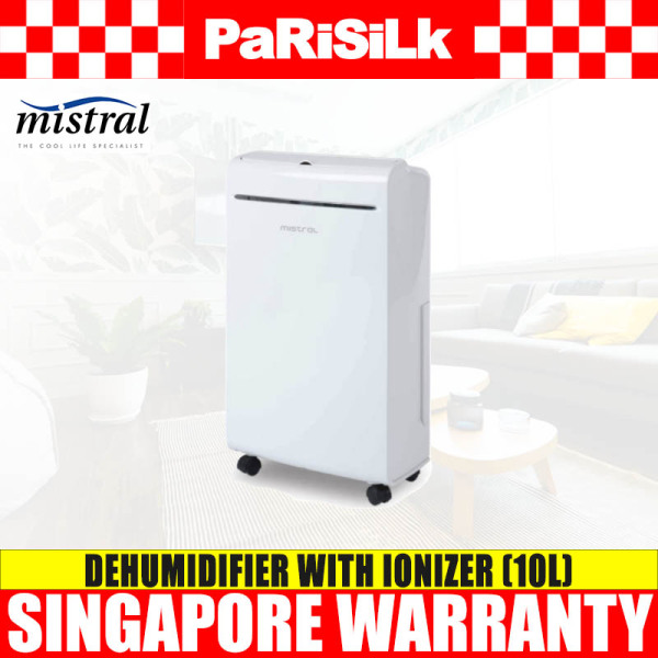 Mistral MDH100 Dehumidifier With Ionizer (10L) Singapore