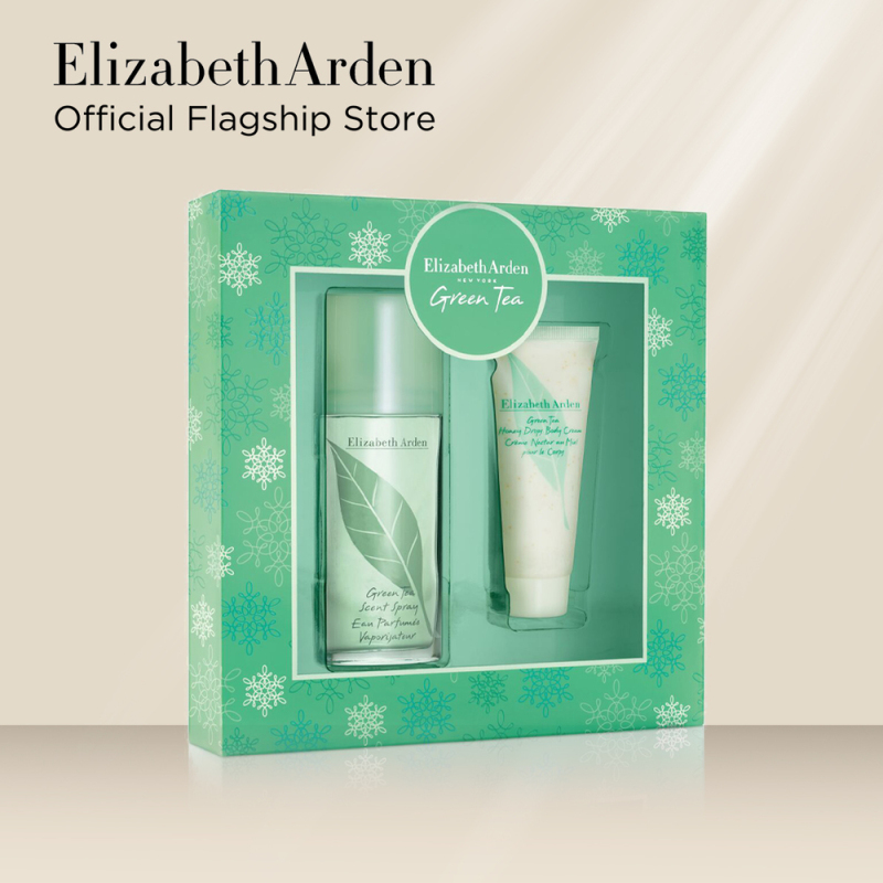 Buy Elizabeth Arden Green Tea 3.3oz / 100ML + Green Tea Honey Drops Body Cream 2 Piece Set Singapore