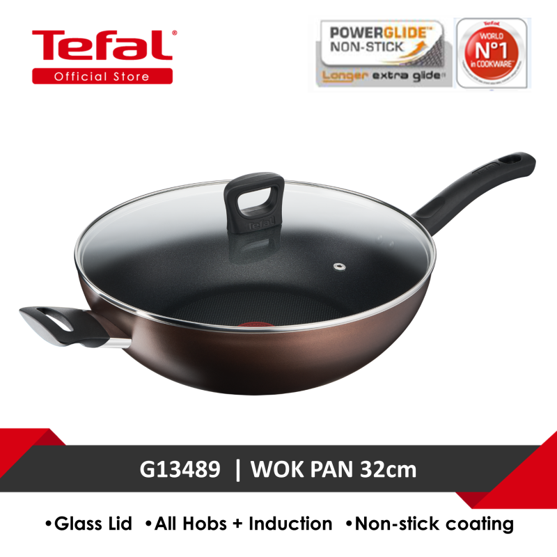 Tefal DAY BY DAY Wokpan 32cm with lid G14398 Singapore