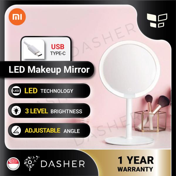 Buy Original Xiaomi Mijia LED Makeup Mirror Desktop Light Portable Folding Lighter Professional Make Up Cosmetic Singapore