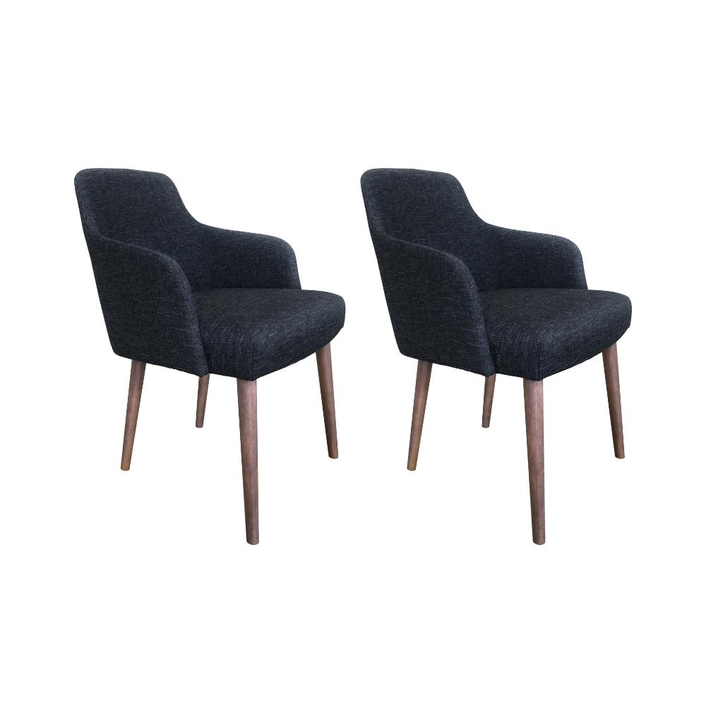 Zenith Dining Chair, Set of 2 (Charcoal)